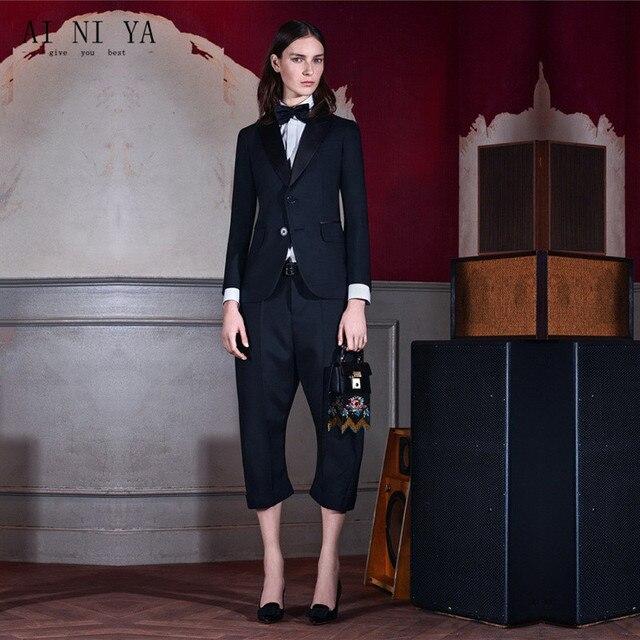 7bd05637a8a9c US $99.99  Aliexpress.com : Buy Black Women Business Suits Formal Casual  Office Work Wear 2 Piece Sets Uniform Styles Design Ladies Elegant Pant  Suits ...