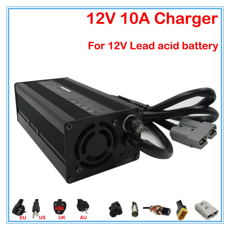 240W 12V 10A lead acid charger 12V Lead acid battery charger For 12V 20AH 50AH 100AH electric scooter fork truck / wheelchair