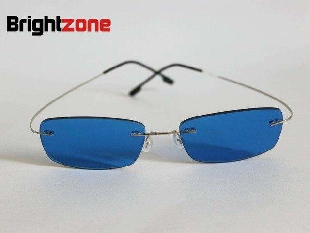 Montura De Color Azul Sin Memoria Titanio Plata 6Brightzone thxsoQdCrB
