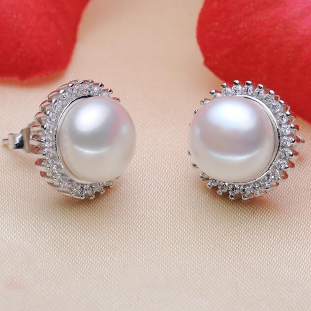ZHBORUINI modni biseri uhani biser za ženske klasična Audrey - Lep nakit - Fotografija 5