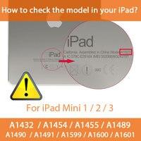 soft tpu Tri-folded Soft Tablets Case For iPad Mini 1/2/3 7.9 Smart Tablet Case TPU+PU Soft Protective Cover 7.9