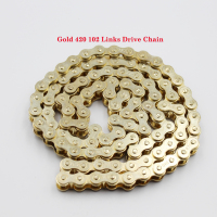 420 GOLD CHAIN 102 Link For 50cc 90cc 110cc 125cc SSR COOLSTER TAOTAO SDG Dirt Pit Bike ATV XR50 CRF50 70