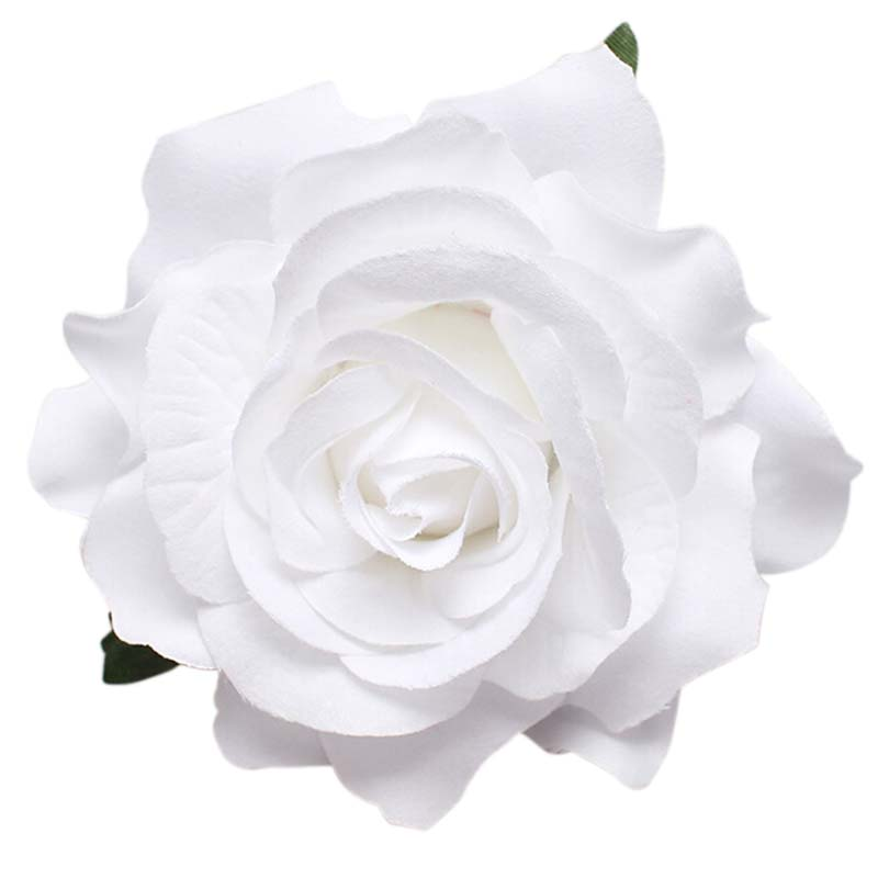 2016 pure white women girls fashion charming bridal rose flower hairpin brooch wedding bridesmaid party accessories