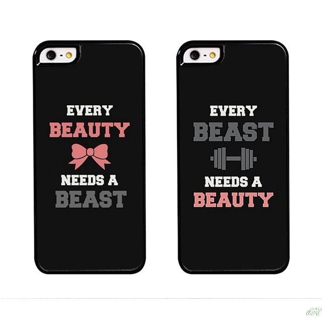 ba7e711efe 2016 Sell like hot Beauty and Beast Couples Matching mobile phone Case for  iphone 5s 4s 4c 6 6plus 7 7PLUS