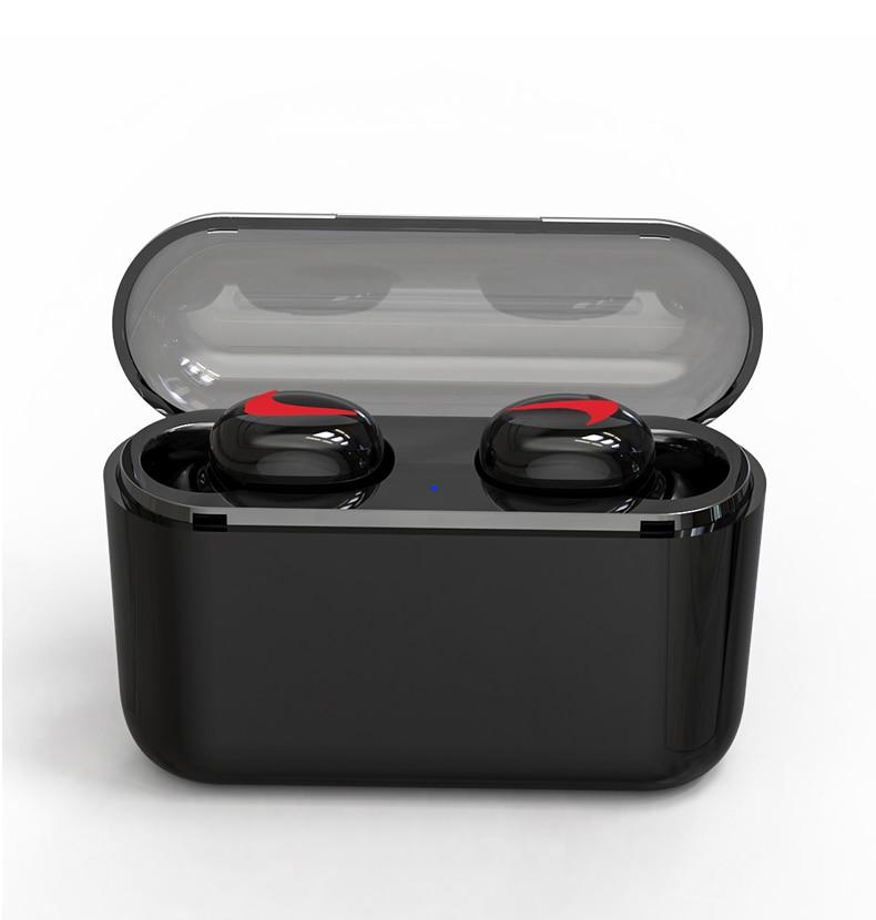 Black Color Mini Headphones with Charge Box | Cornmi