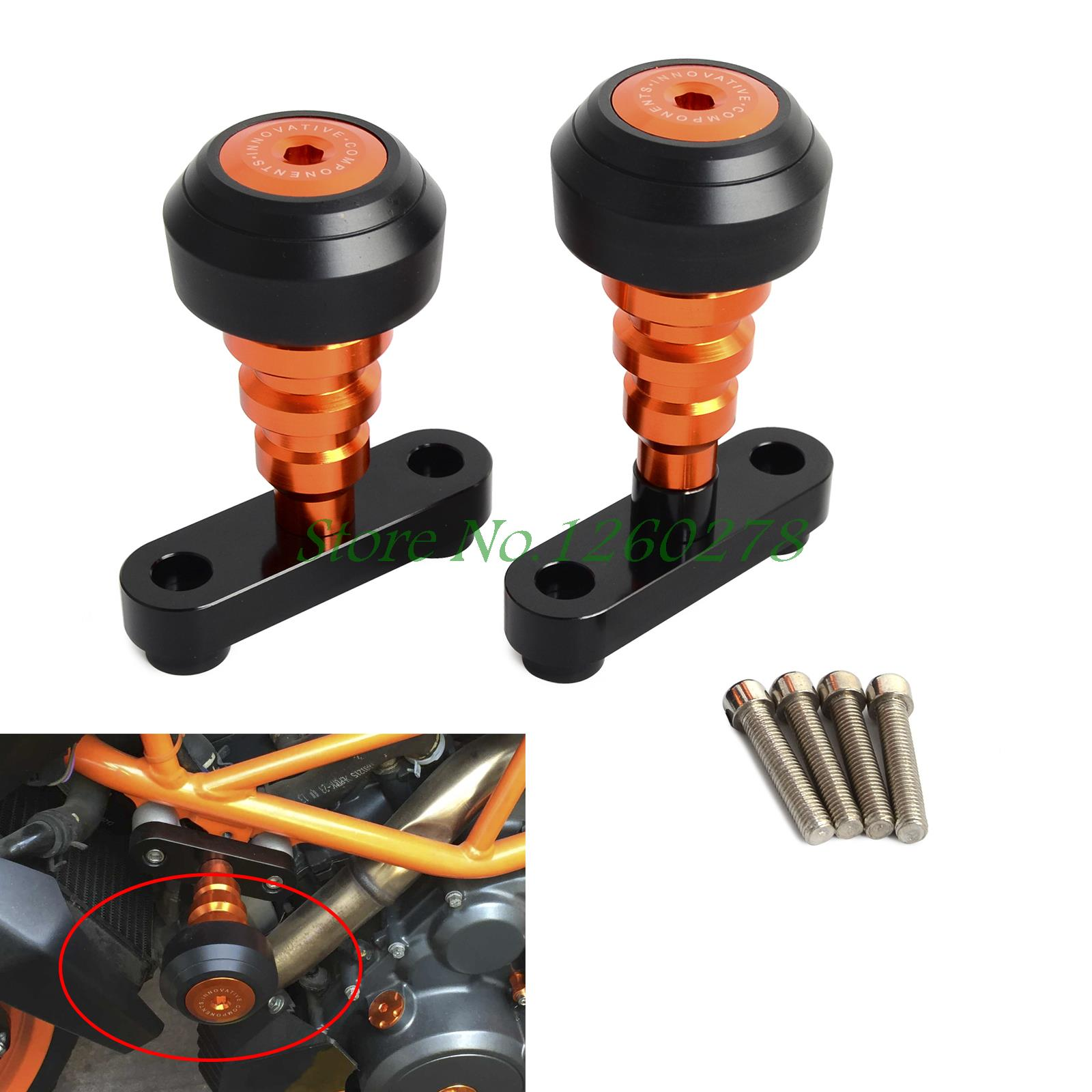Motorcycle Frame Sliders Crash Protector Sturzpad Crashpads For KTM DUKE 200 2012-2017 390 DUKE 2013 2014 2015 2016 2017