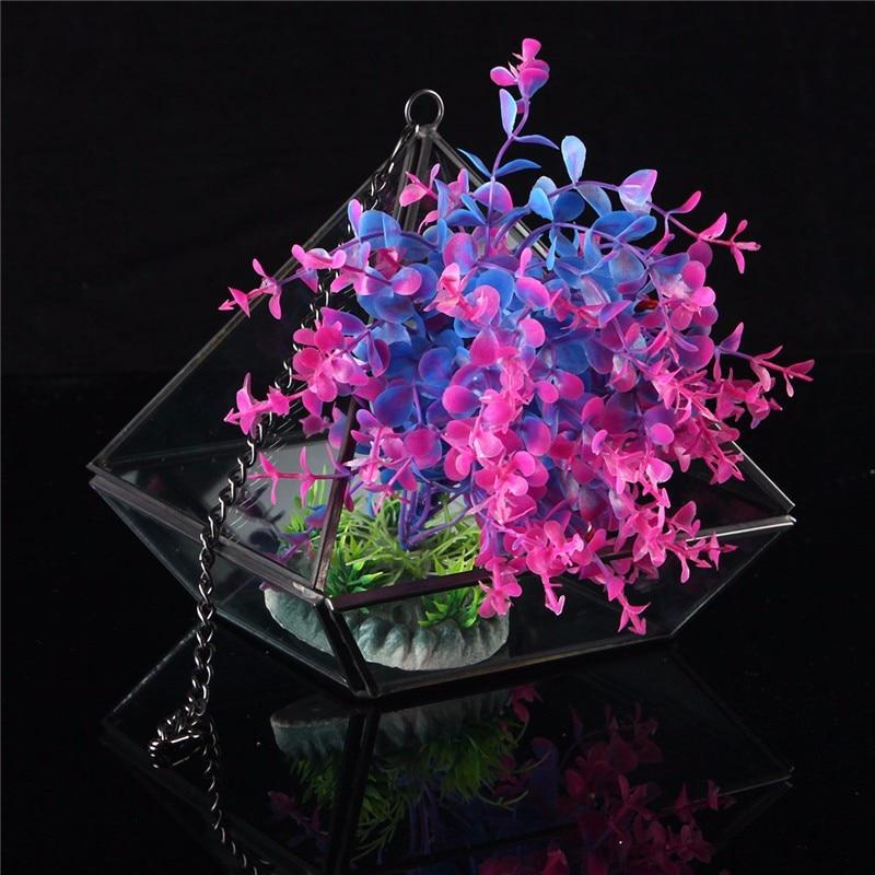 High Quality Irregular Glass Geometric Terrarium Container Box Tabletop Succulent <font><b>Plant</b></font> Planter Flower Vase Garden Craft