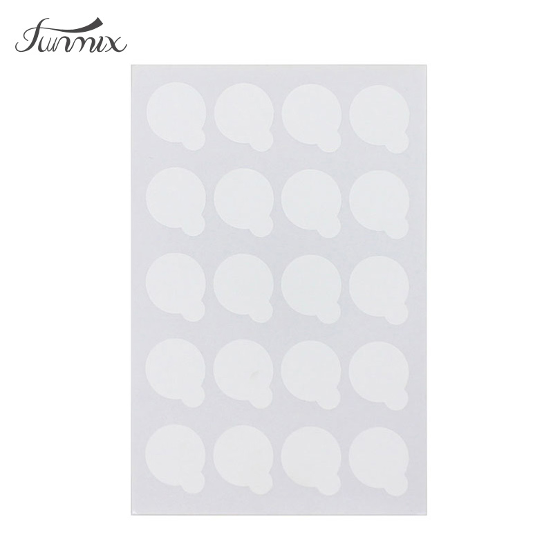 100pcs Disposable Eyelash Glue Holder Pallet Eyelash Extension Glue Pads Stand On Eyelash Jade Stone Small Size 2.5cm