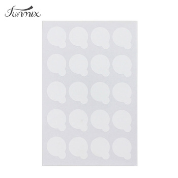 100pcs disposable Eyelash glue holder Pallet Eyelash Extension glue pads stand on eyelash jade stone small size 2.5cm
