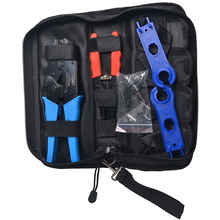 Solar MC4 Crimping Tools Assembly Wrench Tool Kit Include 1 pair MC4 Connector Stripper Spanner Crimper for Solar Panel PV Cable