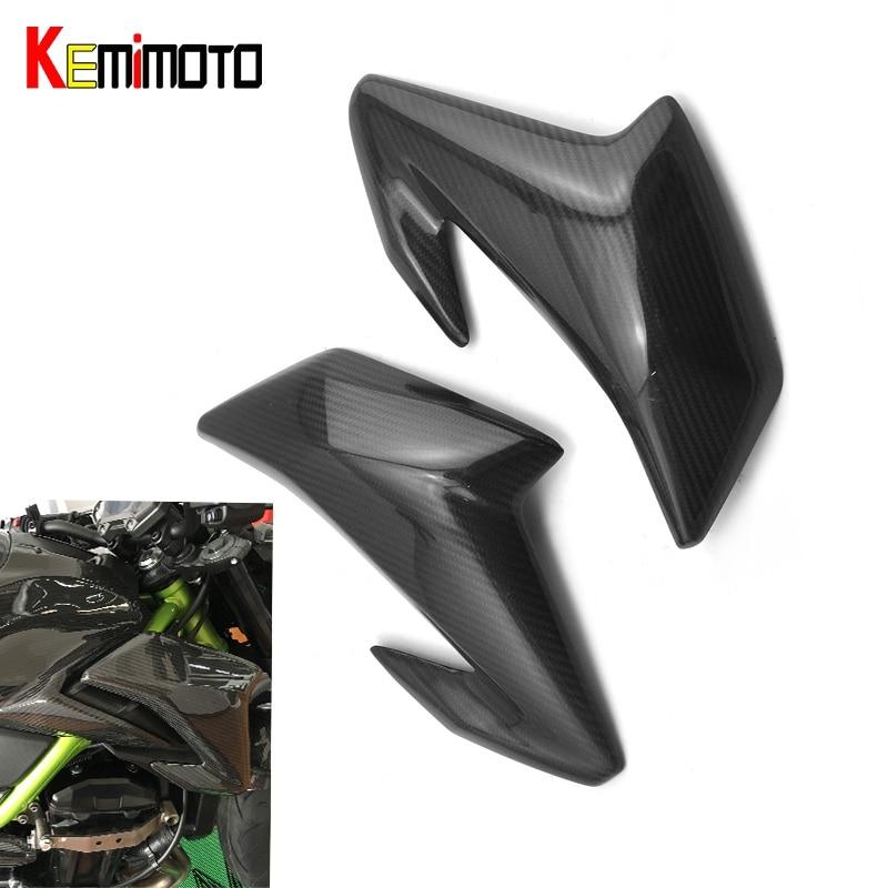 KEMiMOTO для Kawasaki Z900 2017 боковая крышка для Kawasaki Z900 З 900 Мото аксессуары панели Зализа волокна углерода части мотоцикла