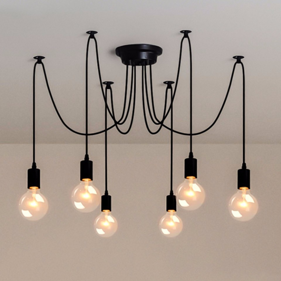 OYGROUP 6 Lights Adjustable DIY Country Industrial