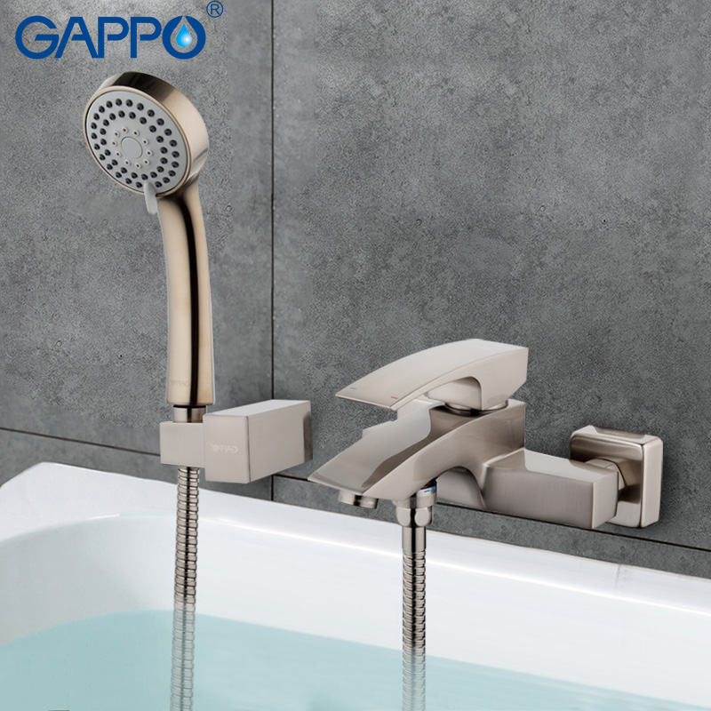GAPPO Bathroom Faucet Accessories faucet Brass body bathtub sink mixer Cold Hot water restroom faucet in hand shower GA3007 5