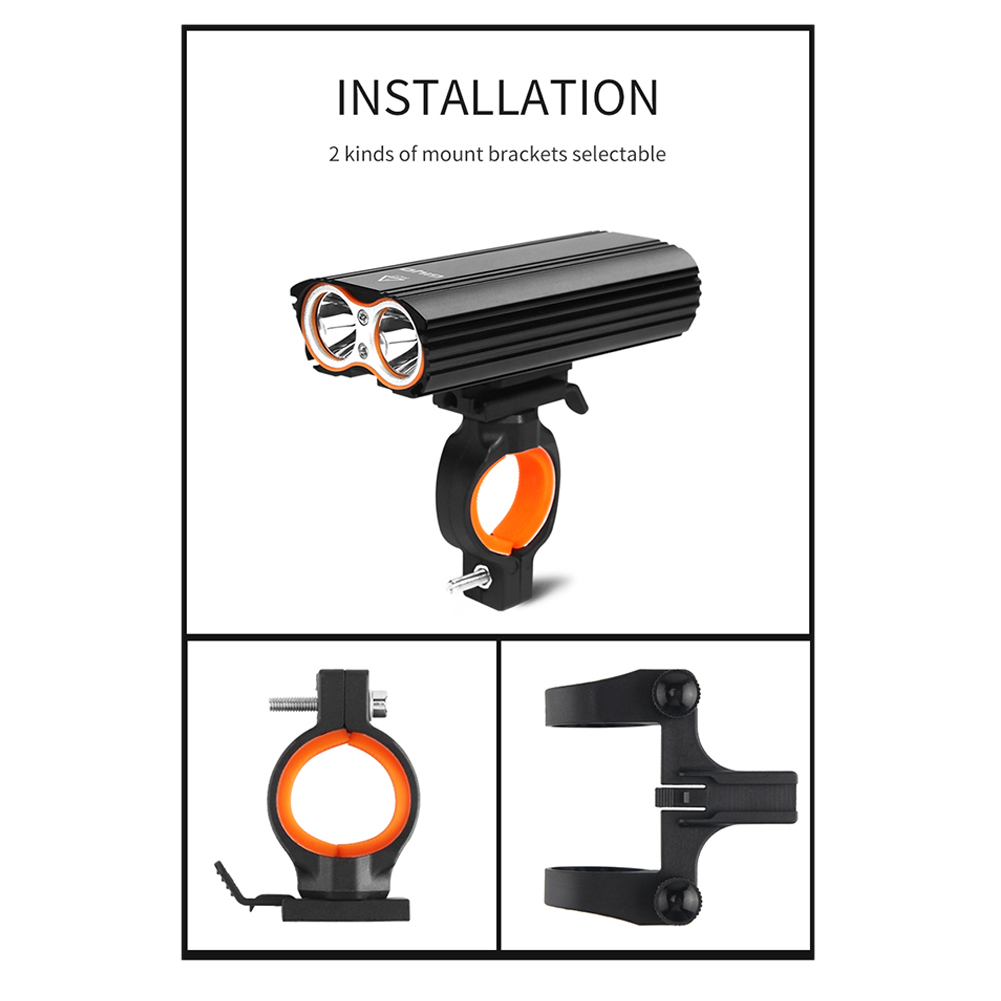 GIYO Bicycle Front Light Bicycle 2400Lm Headlight T6 Leds Cycling Flashlight For Mountain Bike Or Road Bike-MUSIC