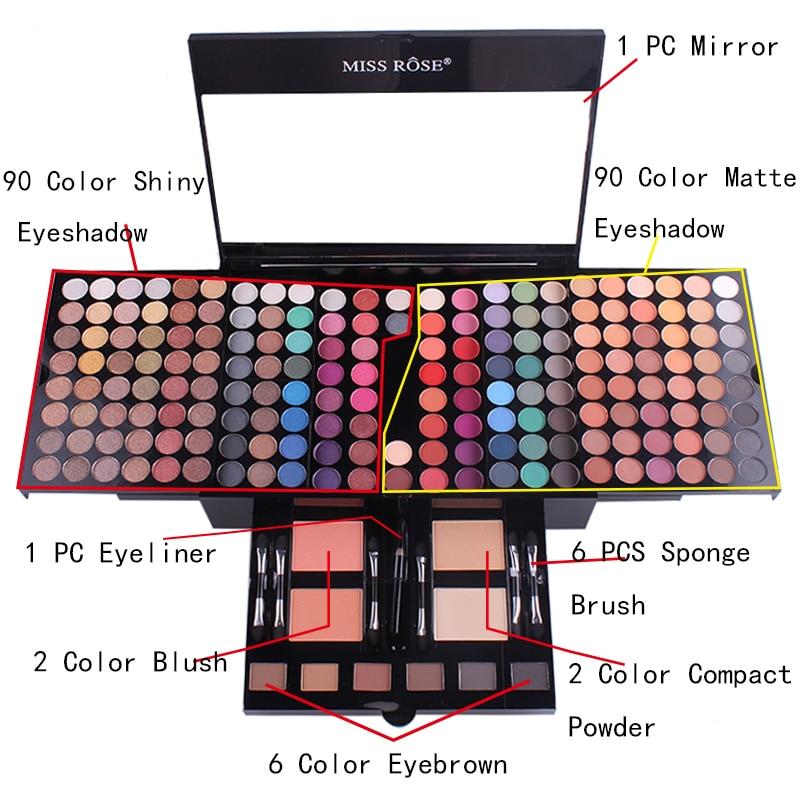 de maquiagem sombra blush sobrancelha paleta kit