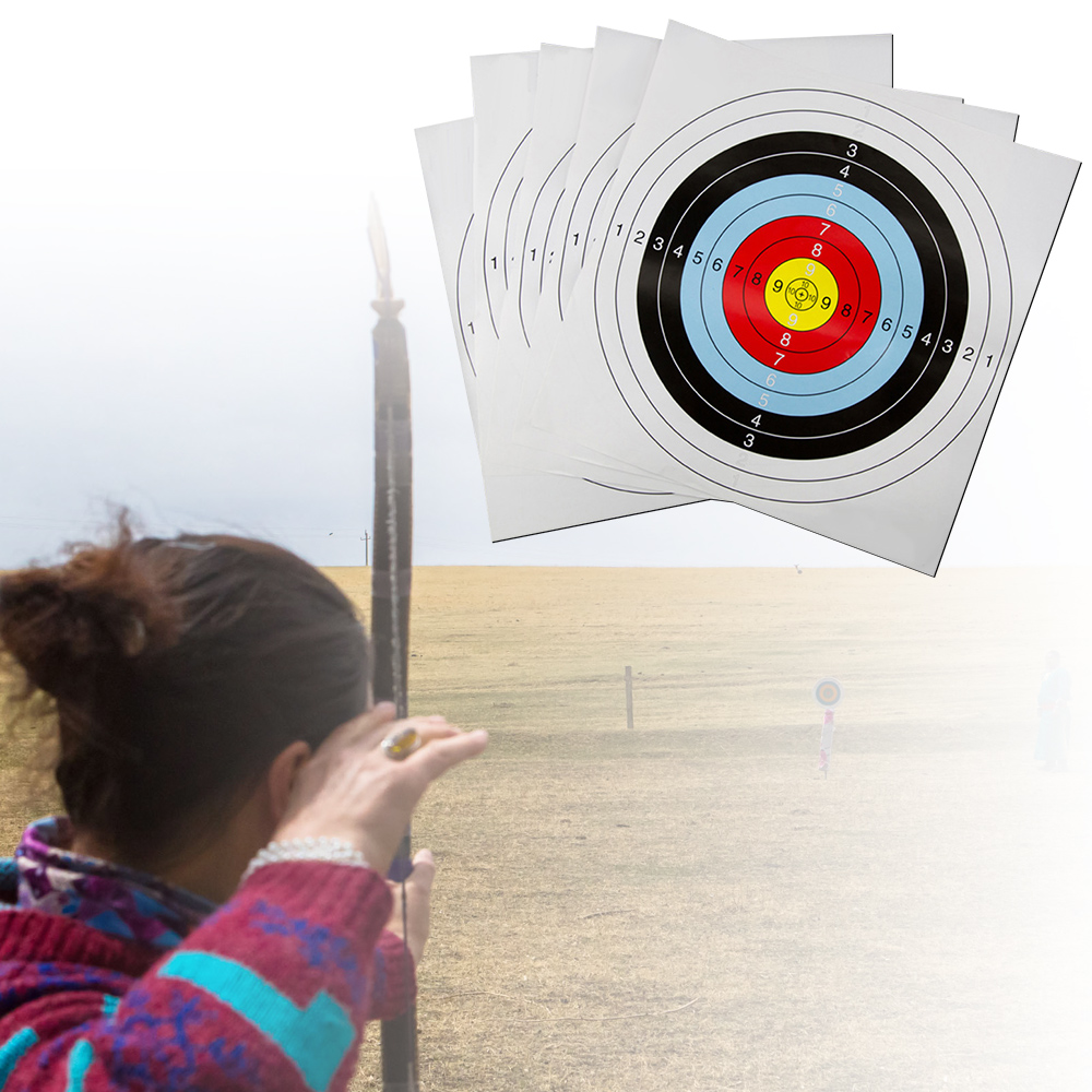 10 Ring Darts Paper Practice Prop Accurate Shooting Target Faces Exercise Amusement Bows 41 * 41 Convenient Accessories Archery