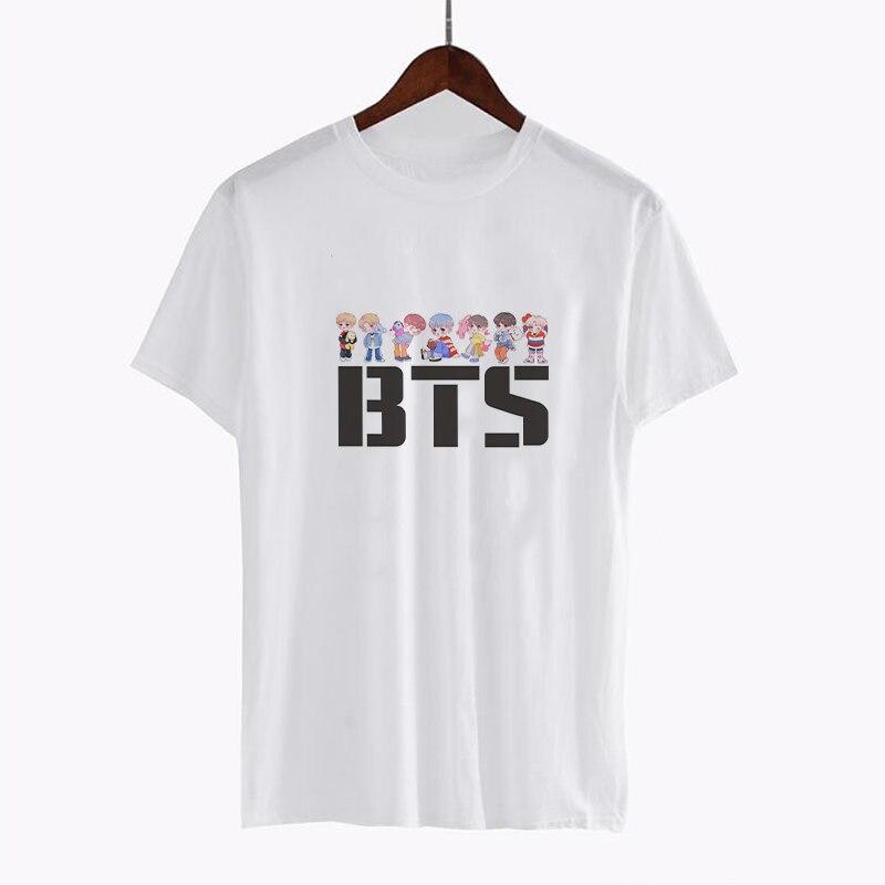 Bts Merch Shop  Bt21 Print Vogue T-Shirt  Bts Merchandise-6690