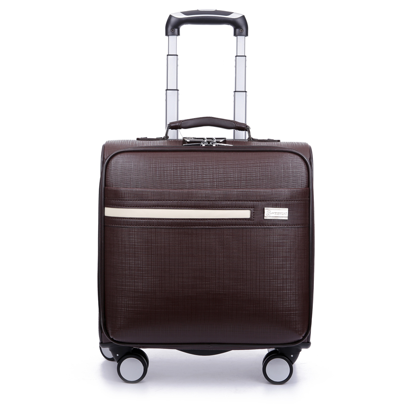 Solid color commercial suitcase trolley luggage male 16 universal wheels luggage computer box luggage
