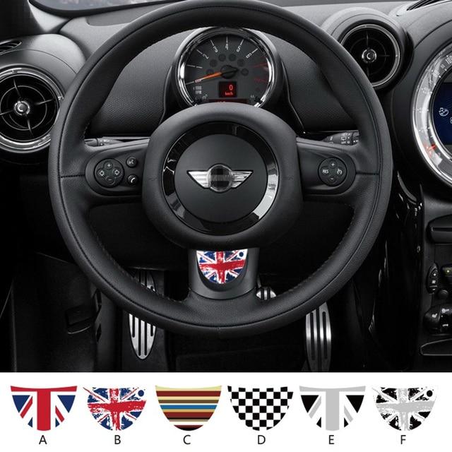 SLIVERYSEA Car Steering Wheel Semicircle Sticker For BMW Mini Cooper R53 R55 R57 R58 R59 R60 R50 R52 JCW F55 F56 #B1380