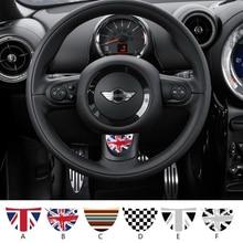 SLIVERYSEA kierownicy samochodu ściernica półkole naklejka na bmw Mini Cooper R53 R55 R57 R58 R59 R60 R50 R52 JCW F55 F56 # B1380