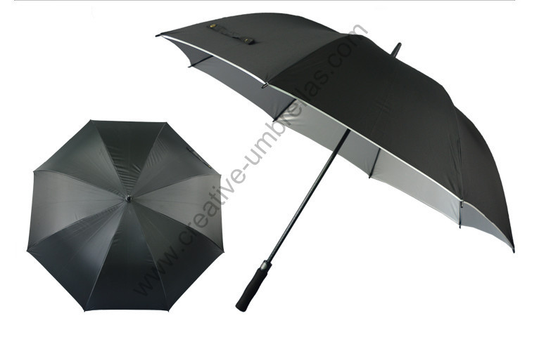 Diameter 120cm buy 3 pcs get 1 free pongee silver coating golf umbrellas.fiberglass,auto open,anti static,anti electricity
