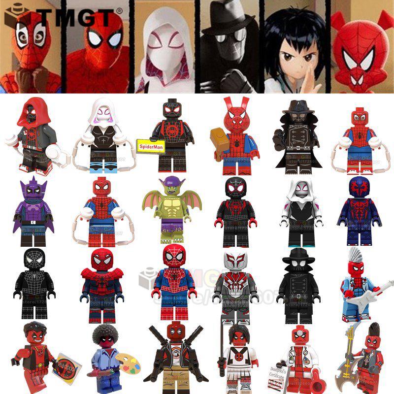 Blocks Reliable Single Sale Super Heroes Legoings Shadow Spider Man Parasitic Body Battle Suit Gwen Stacy Building Blocks Toys For Children