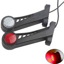 1 пара 12 V 24 V прицеп светодиодный стороны локтя габаритные огни остановить ламповый индикатор красный, белый