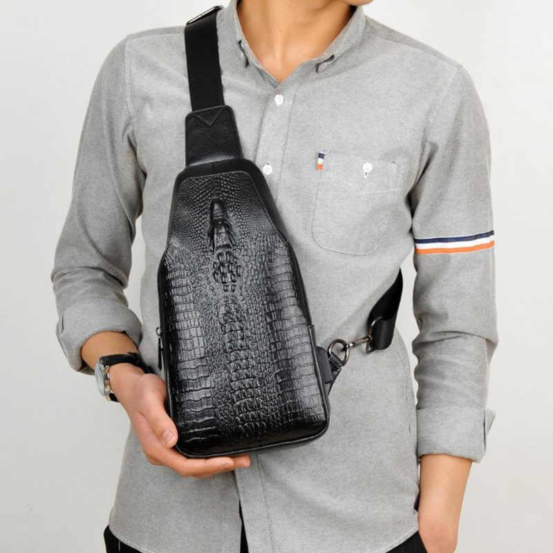 460b8dff46af ... Новая модная мужская сумка-мессенджер из кожи с USB зарядкой  повседневная мужская дорожная сумка через ...