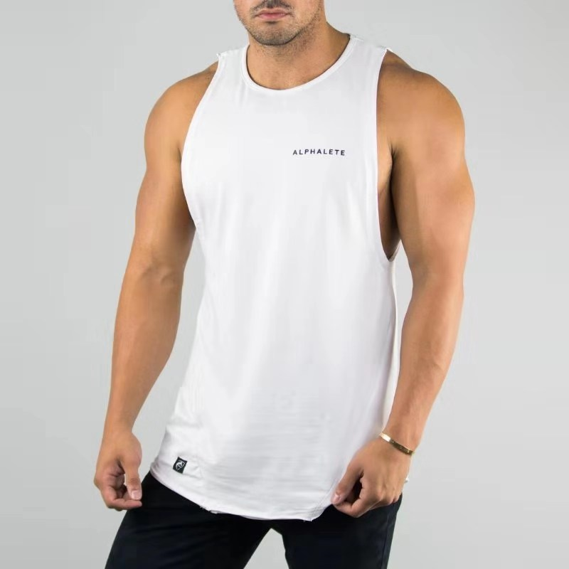 2019 New ALPHALETE Gyms Men Bodybuilding   Tank     Top   Muscle Stringer Athletic Fittness Shirt Clothes Men Cotton Hot Clothing Summer