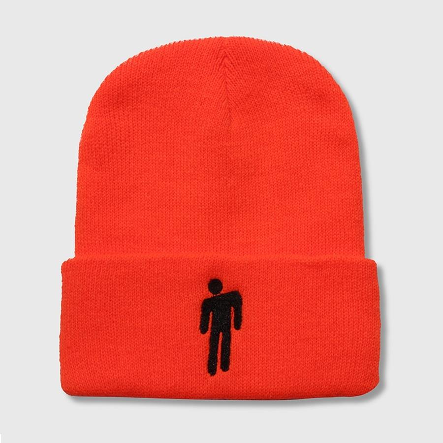 1c8184e48 Billie Eilish Beanies Hats for Women Casual Knitted Winter Warm Hat Men  Embroidery Hip-hop Skullies Bonnet Unisex Cap 18 Colors