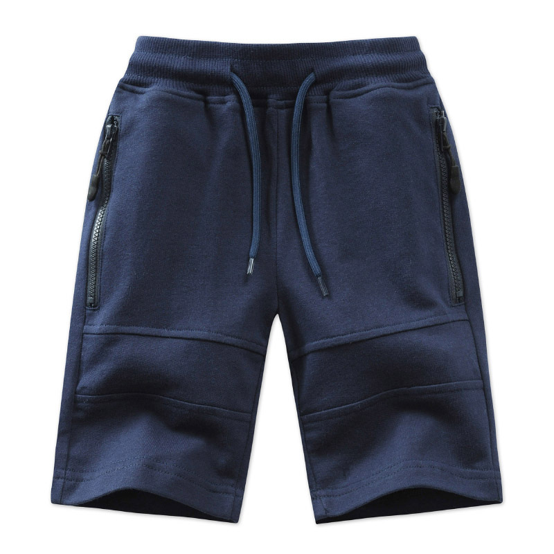 Children Boys Shorts 2021 Summer Zipper Pocket Design Kids Casual Knitted Shorts For Boys 3 4 6 8 10 12 14 Years Clothing Dwq240 3