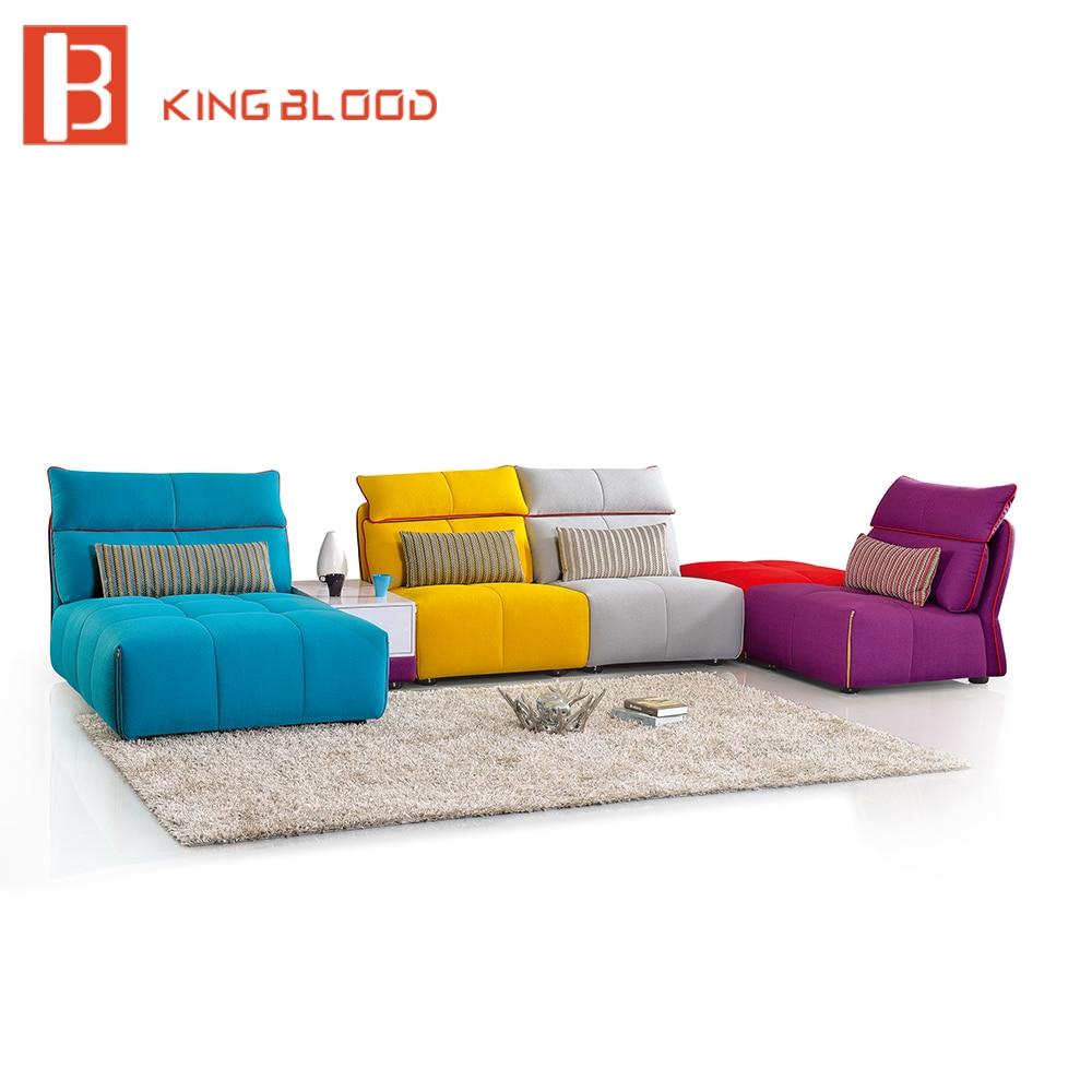 Fabric L shape custom sofa bed for living room