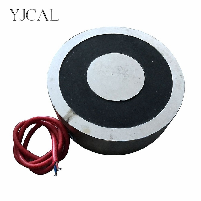 YJ-400/120 Holding Electric Sucker Electromagnet Magnet Dc 12V 24V Suction-cup Cylindrical Lifting 8000KG Suction Plate China