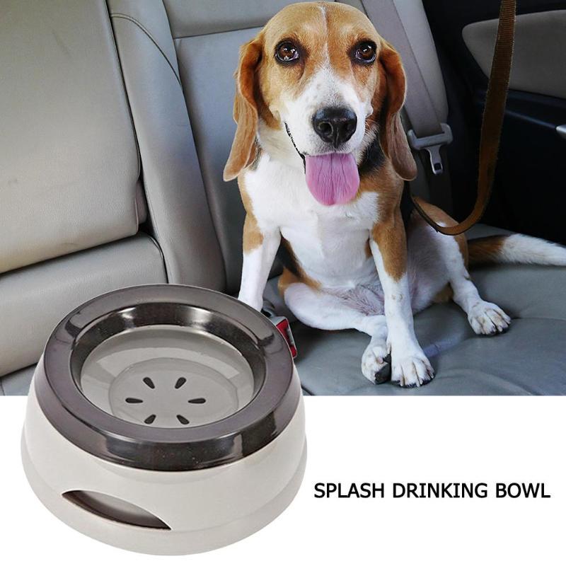 Green Grey Pet Not Wet Mouth Bowl Splash Drinking Water Bowl Not Wet Mouth Floating Drinking