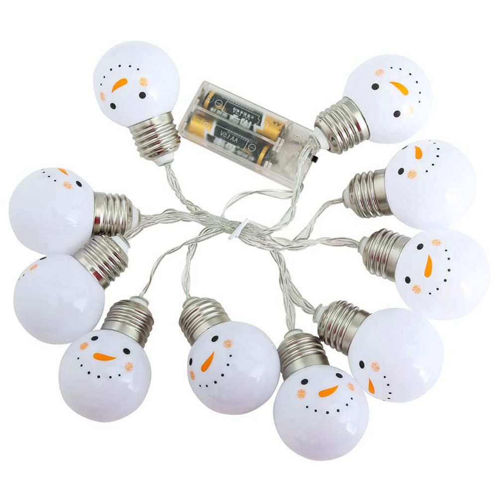 Christmas String Lights Decoration LED Bulb Holiday 1.5M 10 LEDs Cute Snowman Halloween Home Party Garden Courtyard Path Decor|Lighting Strings| |  - title=