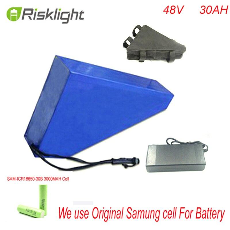 48v 48v 30ah da bateria bicicleta elétrica da bateria ebike 1000w triângulo bicicleta elétrica lithium ion battery pack Para CELULAR Samusng