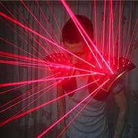 Звезды луч Galaxy 532nm красный зеленый лазер костюм с 20 штук лазеры танец шоу на сцене свет жилет Творческий жилет для DJ клуб/бары