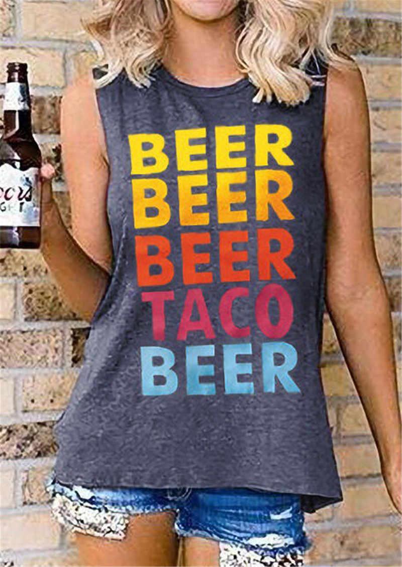 جديد الأزياء البيرة إلكتروني طباعة تيز عارضة س الرقبة خزان فضفاضة كاميس للنساء أعلى رمادي تانك القمم الصيف