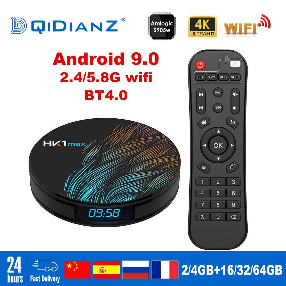 HK1MAX Smart tv box Android 9 0 2 4G/5G Wifi BT 4 0 RK3328 Quad Core 4K  1080P Full HD hk1 max Set-Top Box Netflix KD Player