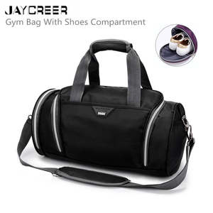 Jaycreer Athletic-Bags with Shoes Compartment Travel Duffel-Bag for And Women 4-Colors