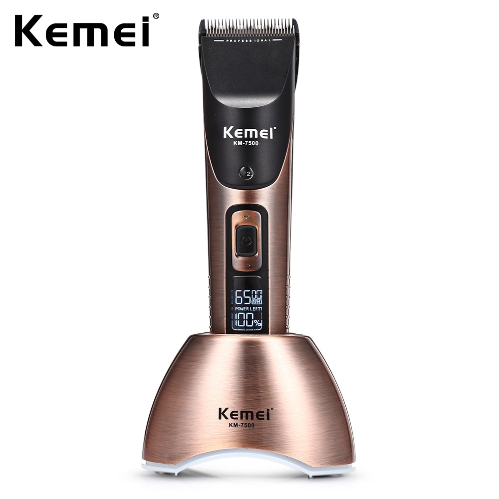 Kemei-7500 10 velocidade Profissional máquina de Cortar Cabelo Recarregável Aparador de Cabelo Aparador de Barba para Homens Corte De Cabelo Cortador Elétrico Ferramenta