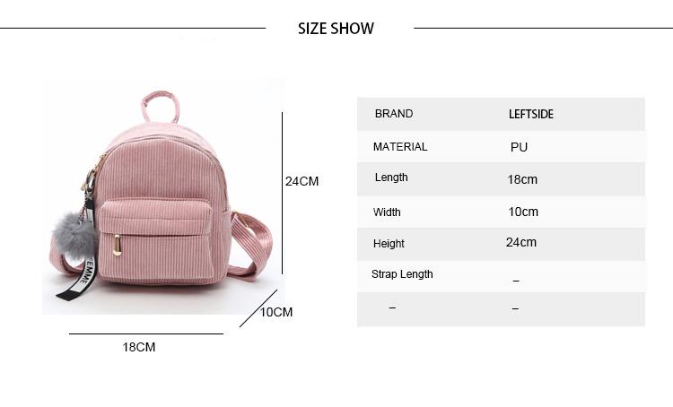 Small Backpack Leftside Women 2018 Cute Backpack For Teenagers