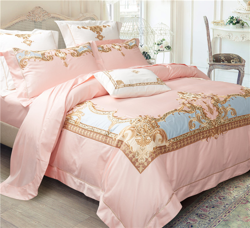 Luxury Egypt Cotton palace classical art Bedding Set Embroidery Silky Duvet cover Bed Sheet Pillowcases Queen King size 4/6/7PcsLuxury Egypt Cotton palace classical art Bedding Set Embroidery Silky Duvet cover Bed Sheet Pillowcases Queen King size 4/6/7Pcs