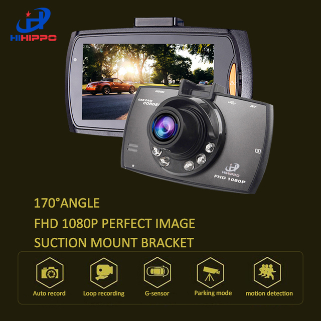 "HIHIPPO car dvr Mini 2.7"" Full HD 1080p Car DVR 170degre Wide Angle TFT LCD Car dvrs Dash Camera Video Cam Recorder Night Vision"