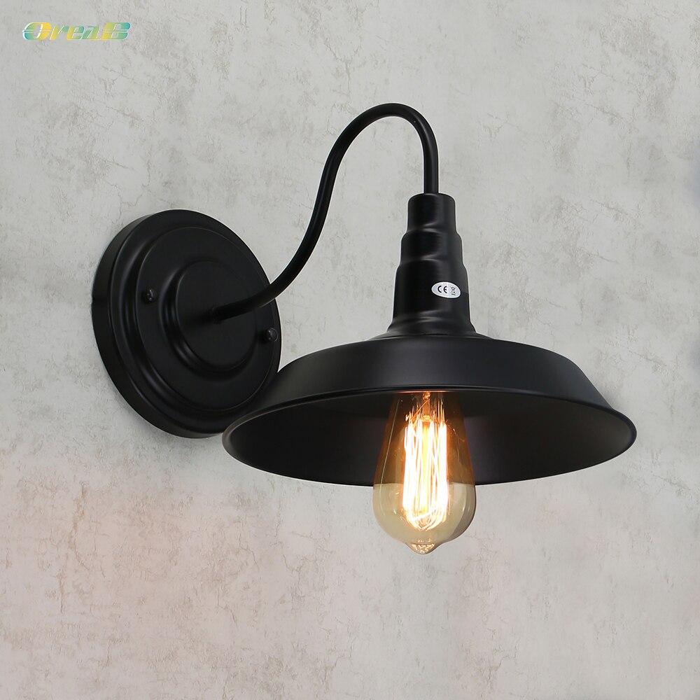 E26/E27 レトロ壁ライト工業用照明ヴィンテージ壁掛け器具が点灯/プラグなしで  グループ上の ライト & 照明 からの ウォールランプ の中 1
