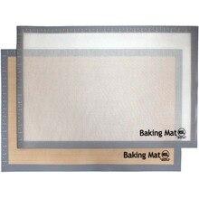 "620x410mm (24,41 ""x 16,14"") Große Massiven Teig Pastry Fondant Antihaft-silikon arbeit Roll Backmatte Gebäck Rollmatte"