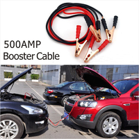 12V 500A Car Emergency Ignition Wire Battery Connecting Cables Booster Cable Jumper Wire Cord Powerful Battery