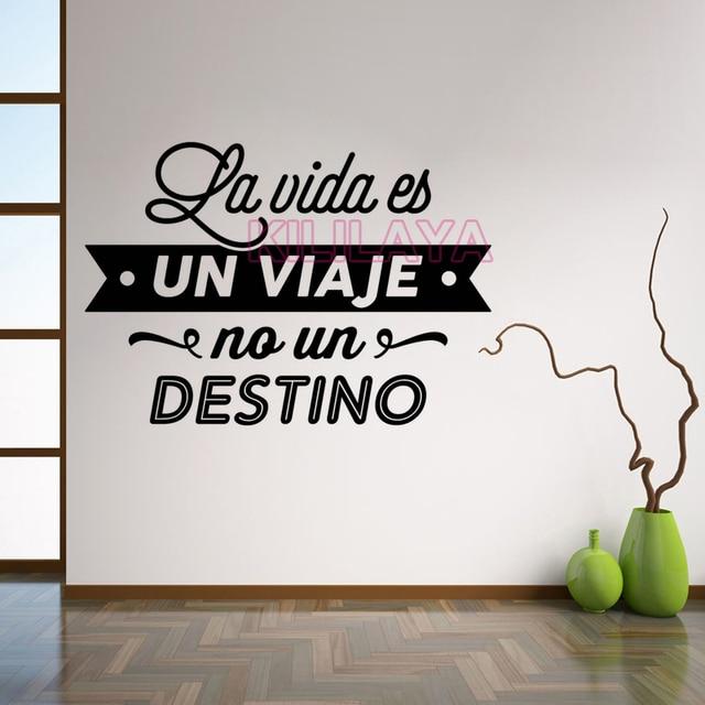 De Pared de vinilo Pegatinas Cita Española Leyendas Tatuajes de Pared Wall Art Home Decor Wallpaper for Living Room Decoración de La Casa Del Cartel