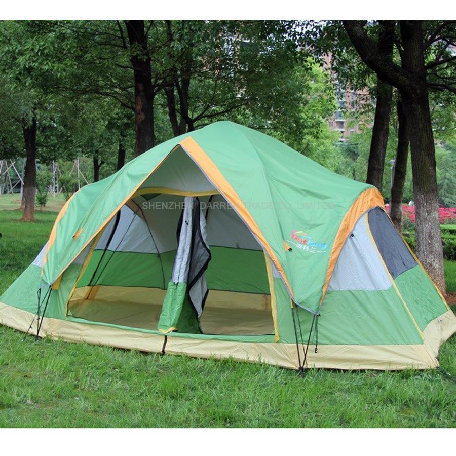 ФОТО 1pcs 5-8 Large family automatic tent quick open camping tent sun shelter gazebo winter tent winter fishing ten