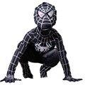 Зло черный паук костюм дети Хэллоуин костюмы для Детей дети супергерой Косплей Спандекс зентаи Полный боди Пользовательские